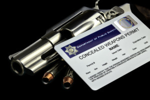 Revolver and Bullets and Concealed Weapon Permit